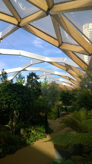 Crossrail place path roof garden