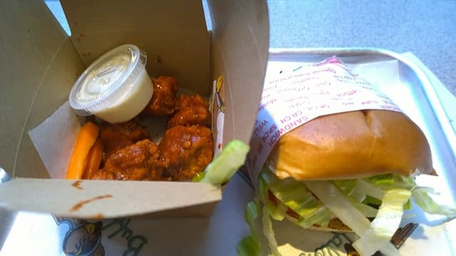 Fat Burger and Death Valley Wings, Camden Town, London