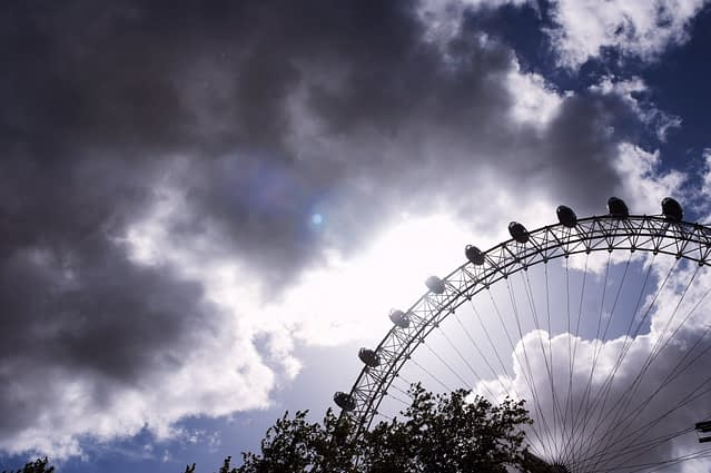 Clouds and the London Eye