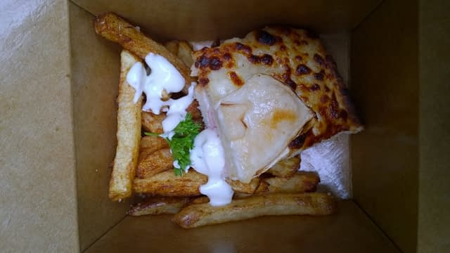 Croque Monsieur and duck fat french fries