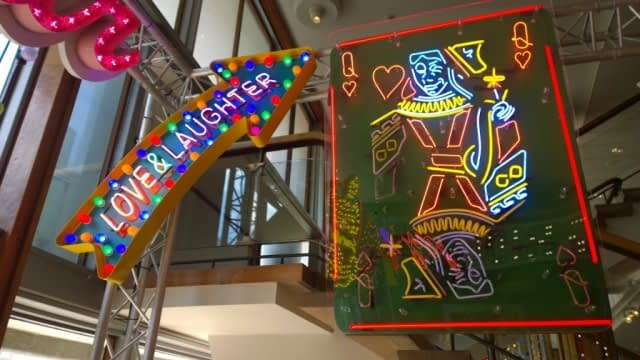 Fun and laughter neon sign Chris Bracey