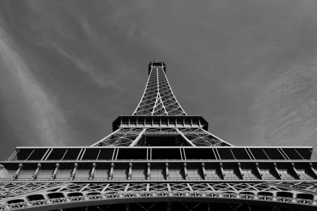Under the Eiffel Tower - Black and White