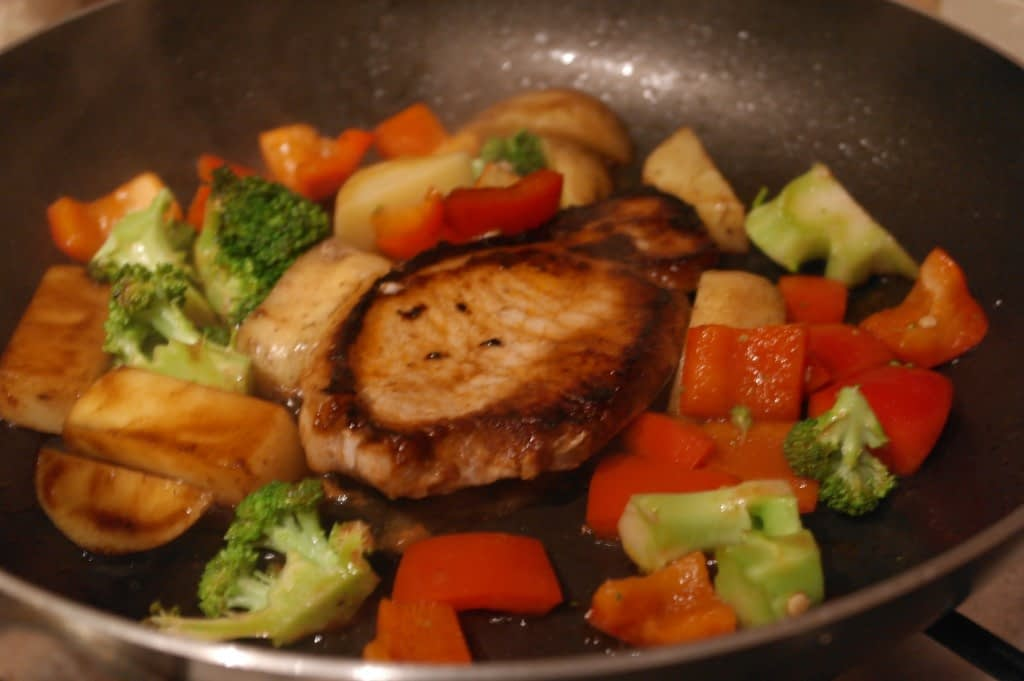 Pork chop with Sticky Barbecue sauce
