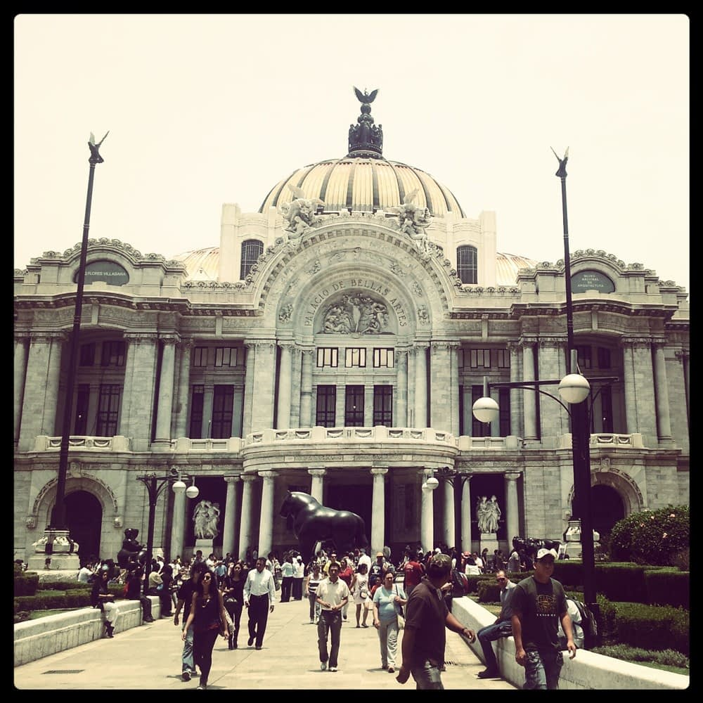 The Palace of Fine Arts in Mexico City