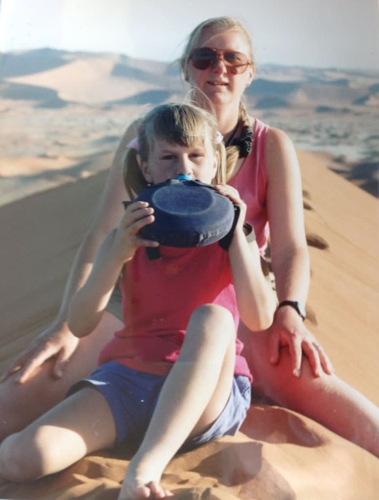 Sand dune with mum cropped