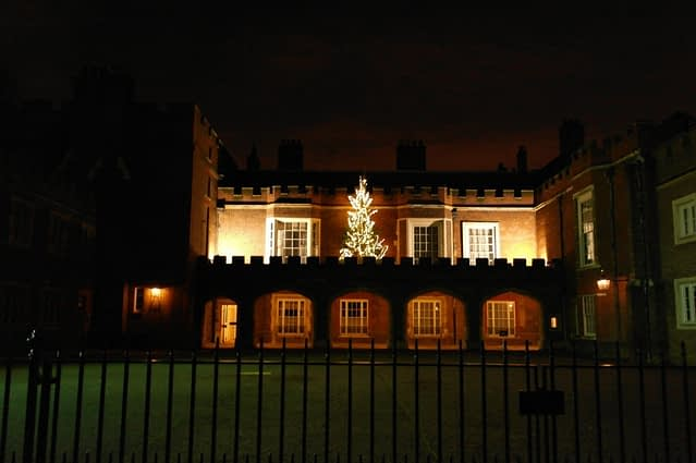 Lancaster House and Christmas tree