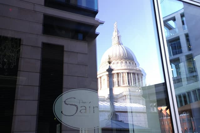 St Paul's Cathedral - Window Reflection