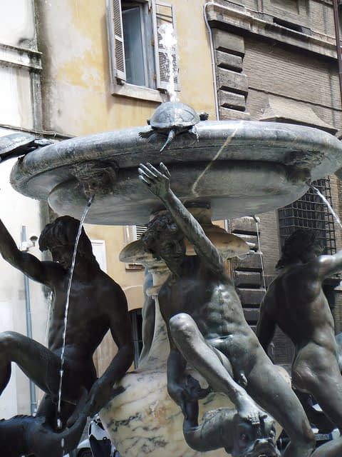 Awesome turtle fountain