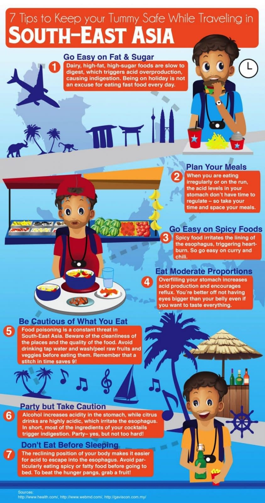 7 tips to keep your tummy safe while travelling in South-East Asia